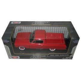 Motor Max 1960 Ford Ranchero Red Motor Max 1:24 Diecast Model Car
