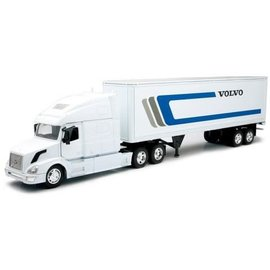 New Ray New Ray Volvo VN-780 White Cab With White Volvo Logo Box Trailer 1:32 Scale Diecast And Plastic Model Truck