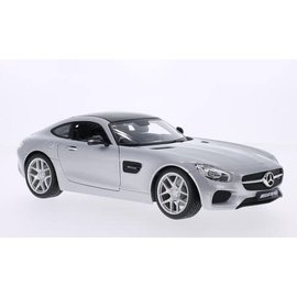 Maisto Mercedes Benz AMG GT Silver Maisto 1:18 Scale Diecast Model Car