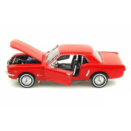 Welly Die Casting Welly 1964 1/2 Ford Mustang Coupe Red 1:24 Scale Diecast Model Car