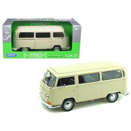 Welly Die Casting Welly 1972 Volkswagen T2 Bus Cream 1:24 Scale Diecast Model Car