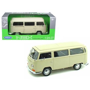 Welly Die Casting Welly 1972 Volkswagen T2 Bus Cream 1:24 Scale Diecast Model Car