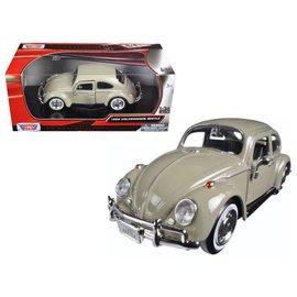 Motor Max Motor Max 1966 Volkswagen Beetle Tan 1:24 Scale Diecast Model Car