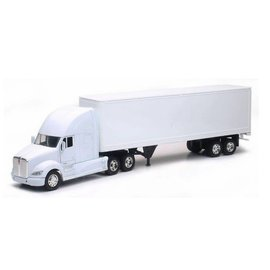 New Ray New Ray Kenworth T700 With All White Cab And Trailer 1:32 Scale Plastic And Diecast Model Truck