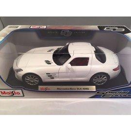 Maisto Maisto Mercedes Benz SLS AMG White 1:18 Scale Diecast Model Car