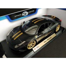 Maisto Maisto Ferrari 458 Speciale Primer Black 1:18 Scale Diecast Model Car