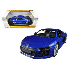 Maisto Maisto Audi R8 V10 Plus Blue 1:18 Scale Diecast Model Car
