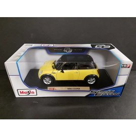 Maisto Maisto Mini Cooper Yellow 1:18 Scale Diecast Model Car