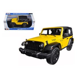 Maisto Maisto 2014 Jeep Wrnagler Yellow 1:18 Scale Diecast Model Car