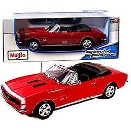 Maisto Maisto 1967 Chevrolet Camaro RS/SS 396 Convertible Red 1:18 Scale Diecast Model Car