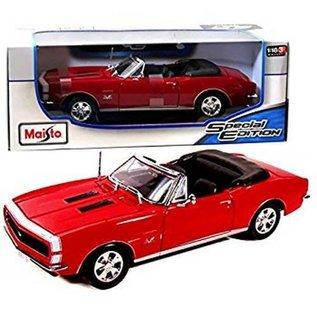 Maisto Maisto 1967 Chevrolet Camaro RS/SS 396 Convertible Red 1:18 Scale Diecast Model Car