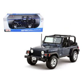 Maisto Maisto Jeep Wrangler Rubicon Blue 1:18 Scale Diecast Model Car