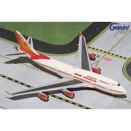 Gemini Jets Gemini Jets Air India Boeing B747-400 1:400 Scale Diecast Model Airplane
