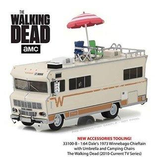 Greenlight Collectibles Greenlight Walking Dead 1973 Winnebago Chieftain Motorhome 1:64 Scale Diecast Model Car