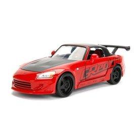 Jada Toys Jada Toys 2001 Honda S2000 Red JDM Tuners 1:24 Scale Diecast Model Car