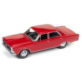 Johnny Lightning Johnny Lightning 1966 Ford Fairlane 500 Sedan Red Classic Gold 2017 Series Release 3 1:64 Scale Diecast Model Car