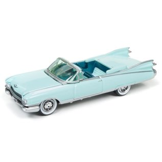 Johnny Lightning Johnny Lightning 1959 Cadillac Eldorado Convertible Aqua Classic Gold 2017 Series Release 3 1:64 Scale Diecast Model Car