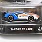 Hot Wheels Hot Wheels 2016 Ford GT Race Forza Motorsport Retro Entertainment 1:64 Scale Diecast Model Car