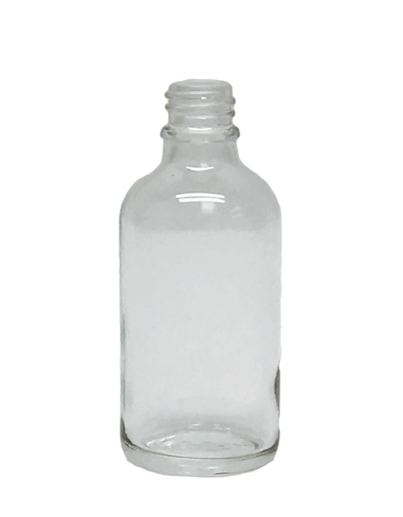 Vanguard Clear Glass Boston Round Bottle - 18/400 Neck -  Bottle Only