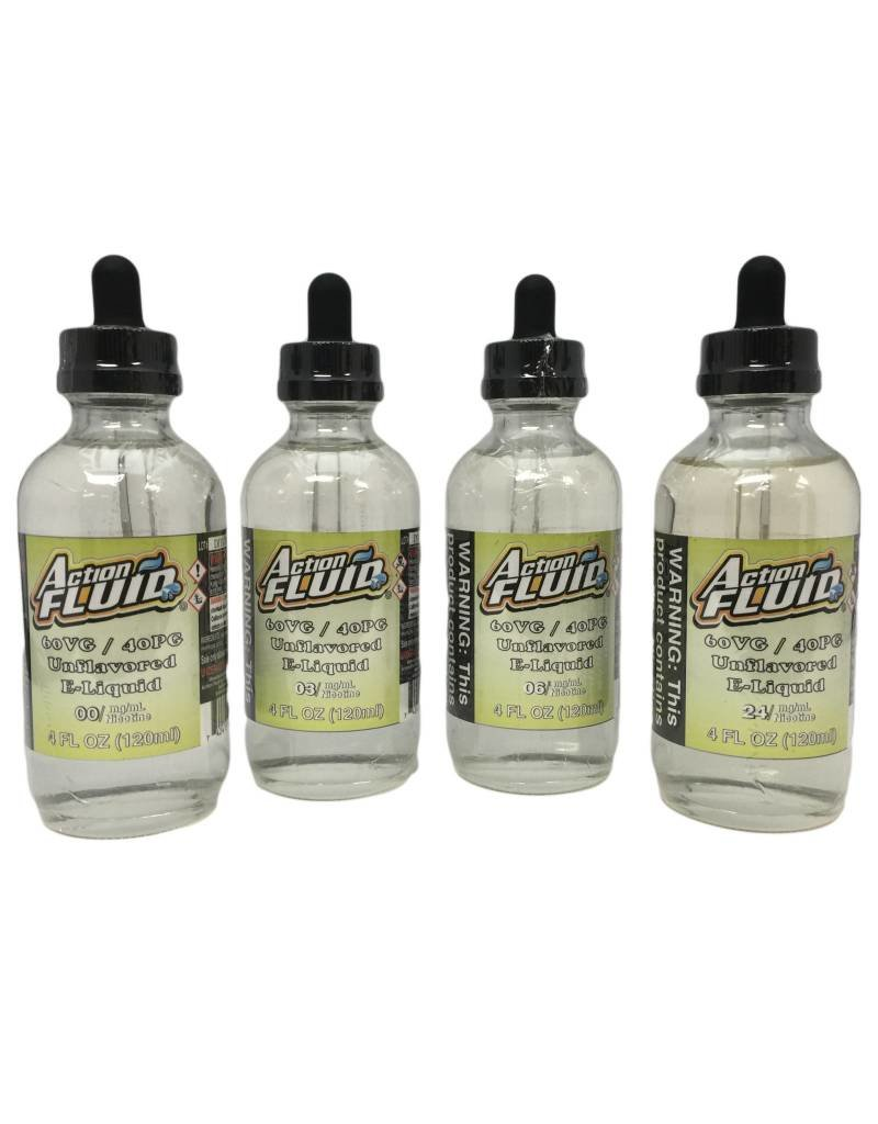 Action Fluid Action Fluid - Unflavored -  120ML - 60% VG / 40% PG