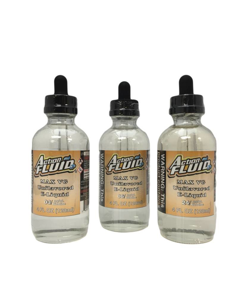 Action Fluid Action Fluid - Unflavored -  120ML - MAX VG