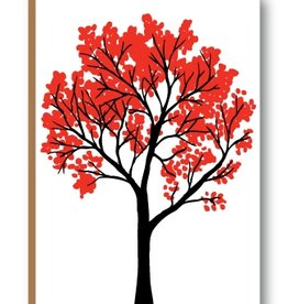 Kiss the Paper Autumn Tree (3.5 x 5)
