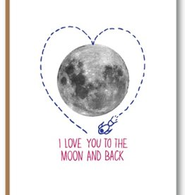 Kiss the Paper I Love You To The Moon And Back
