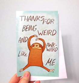 Michelle Scribbles Card - Weird and Awkward