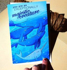 Michelle Scribbles Card - Majestic Creature