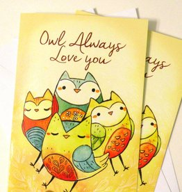 Michelle Scribbles Owl Always Love You / Card