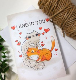 Michelle Scribbles Card - I Knead You