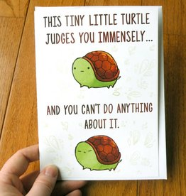 Michelle Scribbles Card - This Tiny Little Turtle