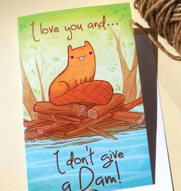 Michelle Scribbles Card - Don't Give a Dam!