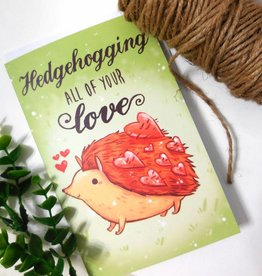 Michelle Scribbles Card - Hedgehoging All Of Your Love