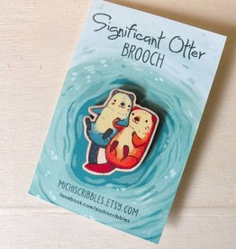 Michelle Scribbles Lapel Pin - Significant Otter
