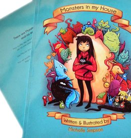 Michelle Scribbles Monster's in My House / Children's Book