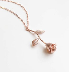 Emery and Opal Necklace - Rose, Rose Gold, 16""