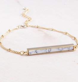 Emery and Opal Bracelet - Gold Bar, 7.5""
