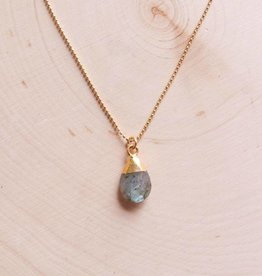 Emery and Opal Necklace - Labradorite, 18""
