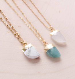 Emery and Opal Necklace - Horn Howlite, 18""