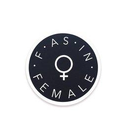 The Five15 F as in Female Vinyl Sticker