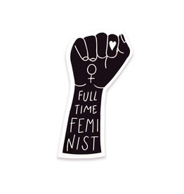 The Five15 Full Time Feminist Vinyl Sticker