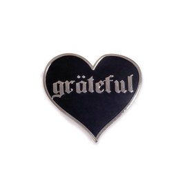 The Five15 Pin - Grateful, Black + Silver Enamel Pin