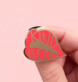 The Five15 Kind is Cool, Red + Gold Enamel Pin