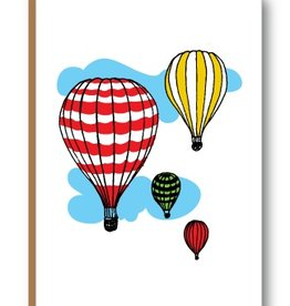 "Kiss the Paper 3.5"" x 5"" - Hot Air Balloons"