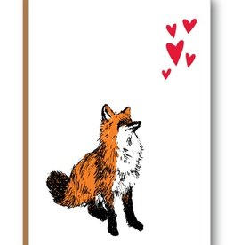 "Kiss the Paper 3.5"" x 5"" - Foxy Hearts"