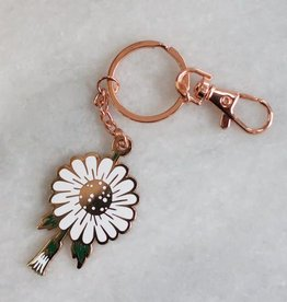 Stay Home Club Daisy Keychain