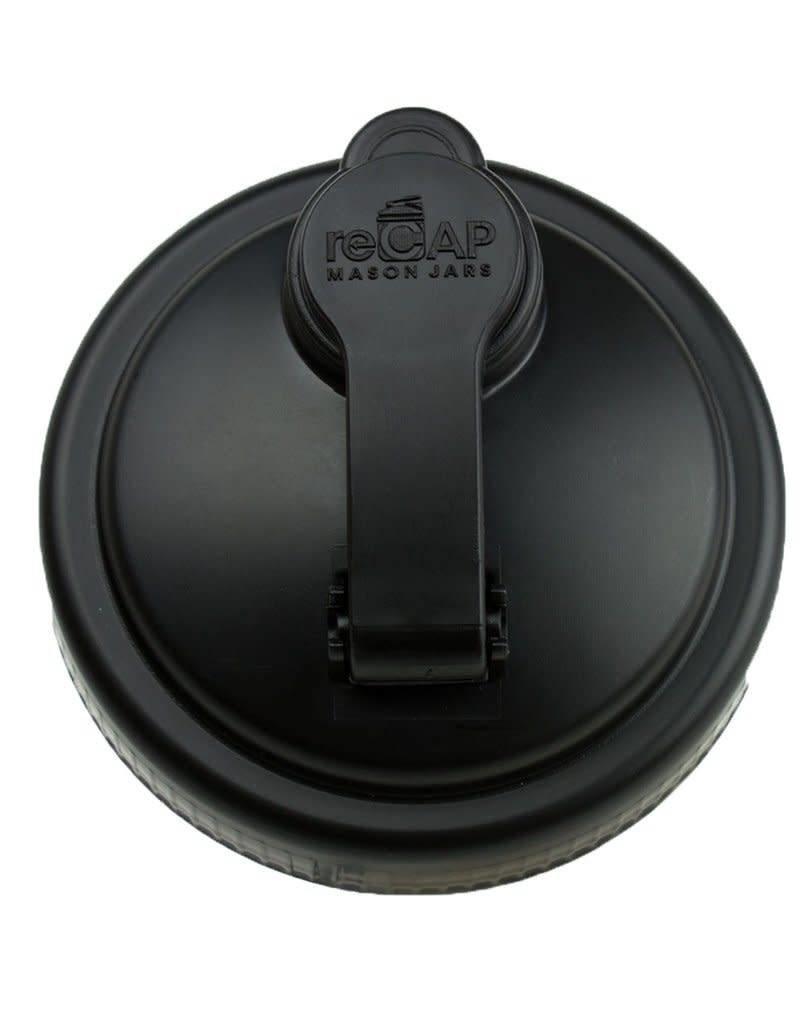 reCAP Wide Mouth Pour Cap, Black