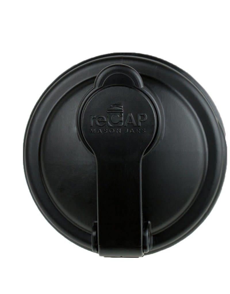 reCAP Regular Mouth Pour Cap, Black