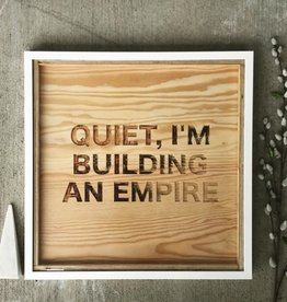 co/create Large Sign - Building an Empire (White)
